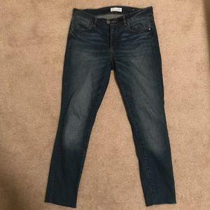 LOFT Jeans - LOFT Modern Raw Hem Frayed Skinny Ankle Jeans